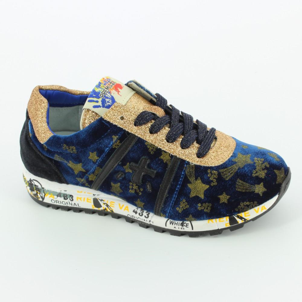 49a3b0ec4c13b0 ... f2024c6ebcb8d5 LUCY sneaker bassa velluto - Sneakers - Premiata - Bambi  - Le scarpe per bambini ...