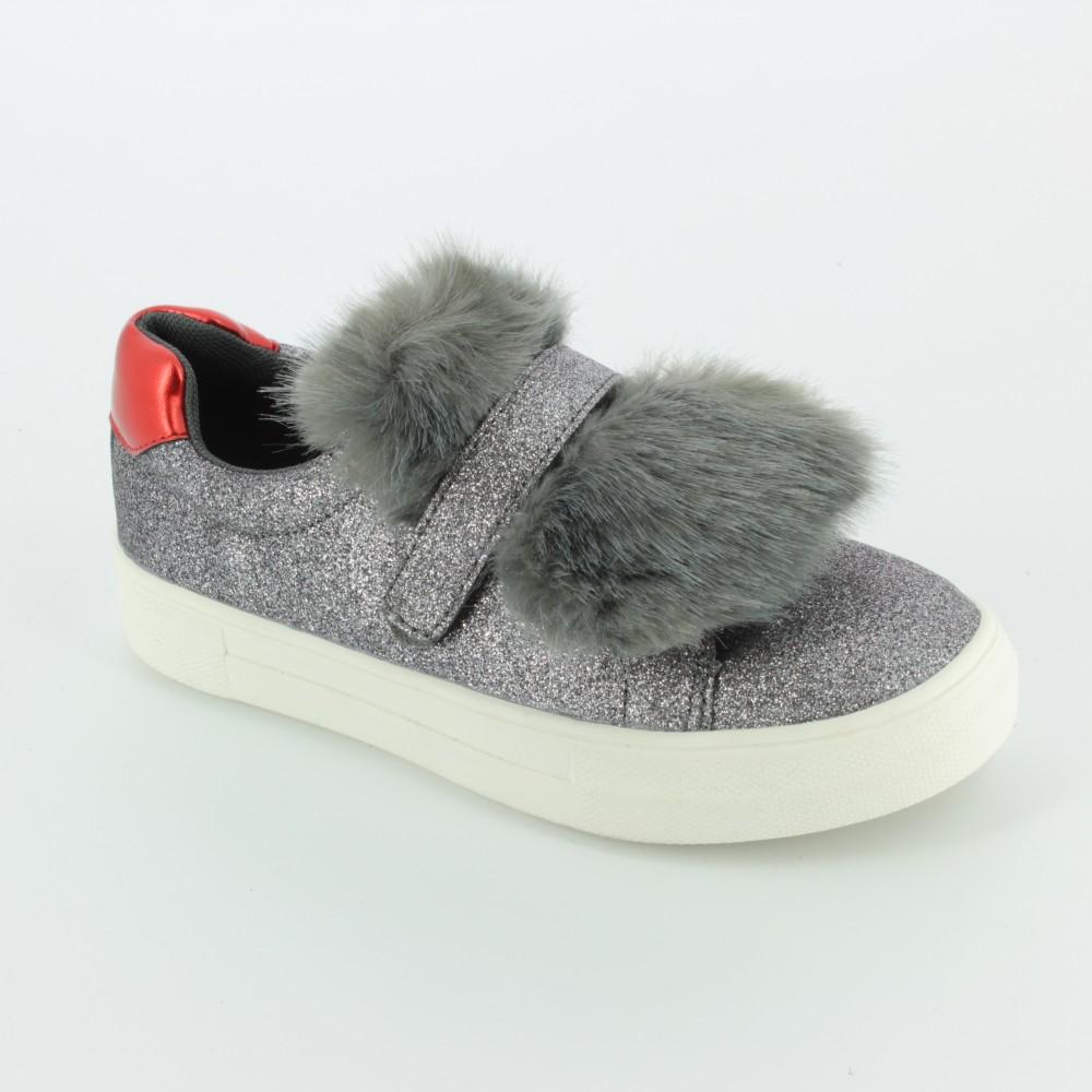 En Venta Baúl Sneakers argentate con chiusura velcro per bambini NINA Venta De Liquidación Barato Comprar Barato Mayor Proveedor En Venta Finishline e3hL8L