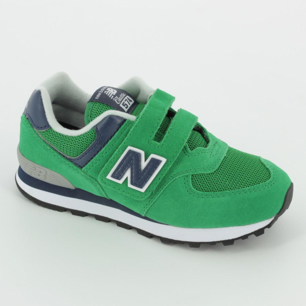 new balance 574 bambino verde