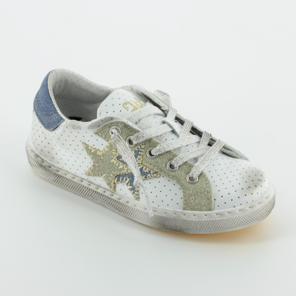 Scarpe all'ingrosso all'ingrosso 2 STAR sneakers bianca