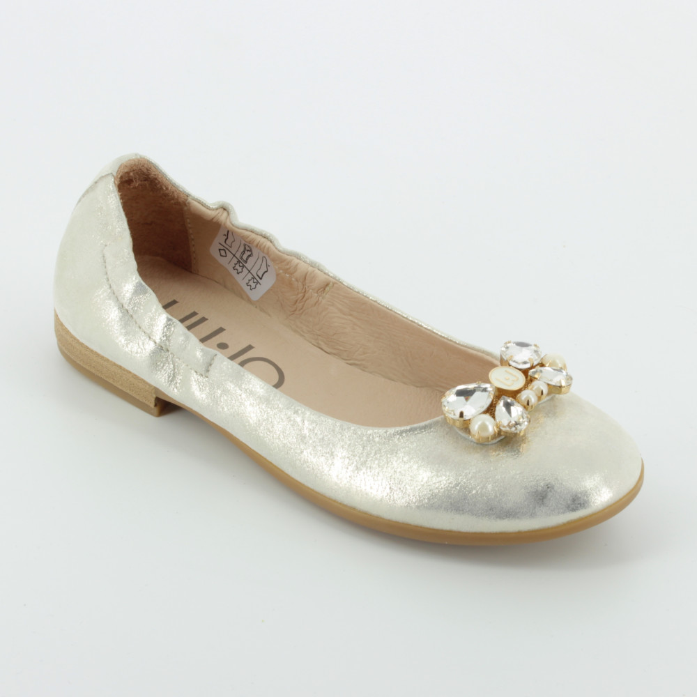 228 ballerina platino gioiello - Scarpe basse e ballerine - Liu Jo - Bambi  - Le scarpe per bambini f9dd54075bd