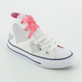 862719C First Star Foil Suede Infants Converse Bambi