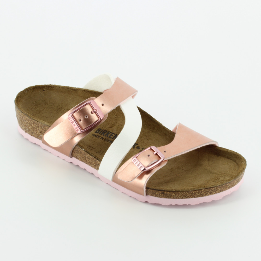 Salina soft metallic rose - Sandals - Birkenstock - Bambi - The shoes for  your kids 0ccd943ee58