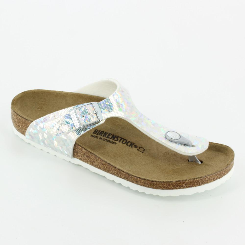 sports shoes c4565 8a43d Gizeh hologram argento - Sandali - Birkenstock
