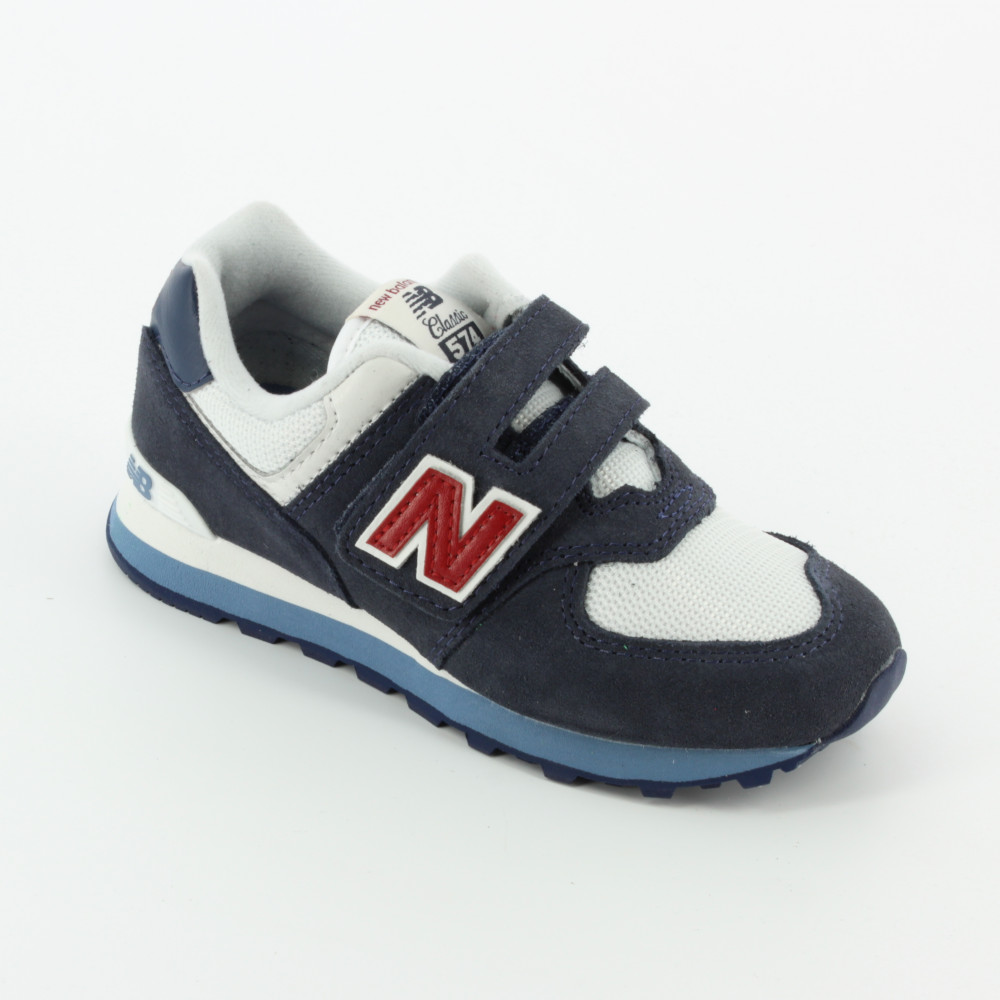 574 suede mesh blu rosso - Sneakers - New Balance - Bambi - The shoes for  your kids 38a91c904d3d1
